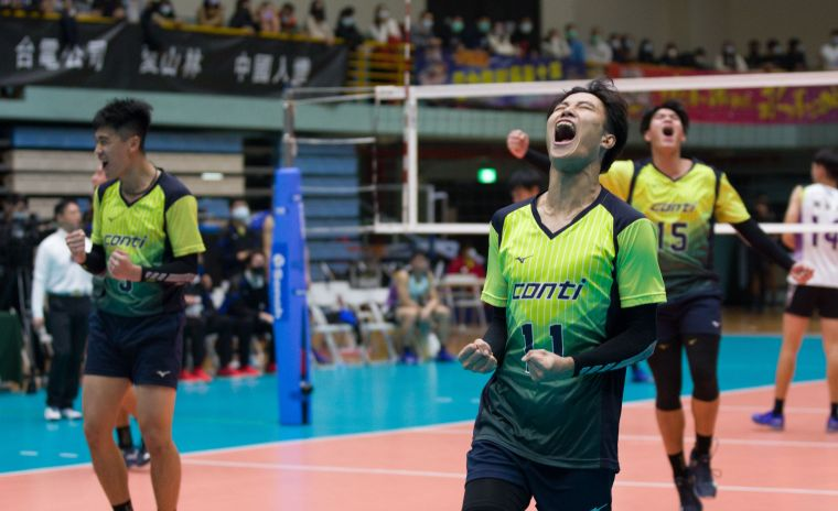 conti成功拿下對戰長力首勝。中華民國排球協會提供