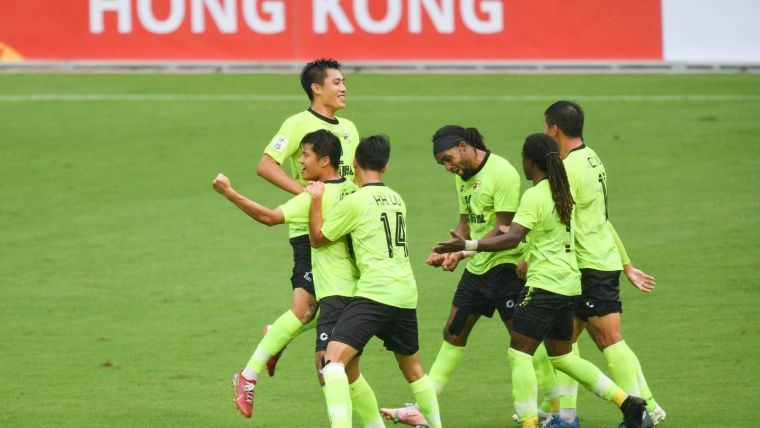 台鋼踼下台灣在亞足聯盃史上的首勝。摘自亞足聯官網