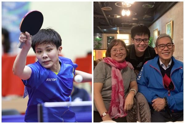 「桌球一姐」鄭怡靜第1次代表台北市參加全運會就奪金,但遺憾乾爹陳俊華看不到。合成照片