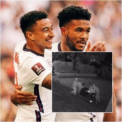 詹姆士在踢歐冠盃時,家裡遭到小偷入侵。摘自詹姆士IG