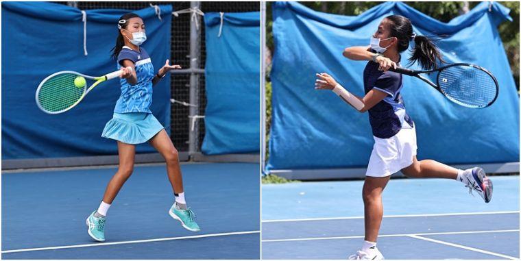 12歲女單決賽將由第七種子許芸貞(右)和第二種子柯雨岑爭冠。合成照片