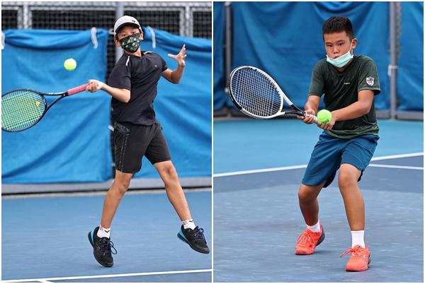 12歲男單決賽由第二種子楊庭禾(左)對上歐子毅爭冠。合扇照片