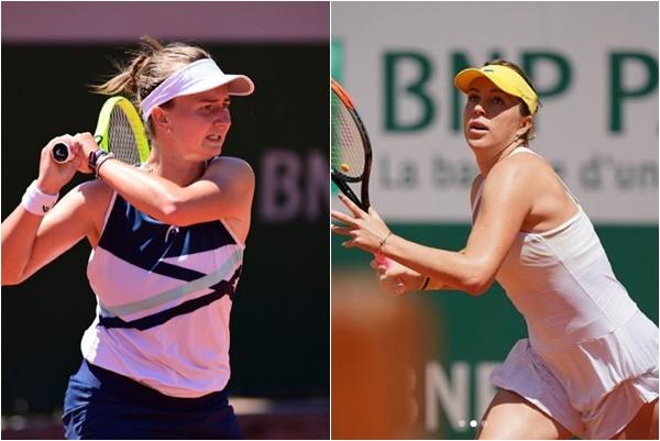 今年法網女單冠軍將由帕芙柳琴可娃(右)與卡蕾茨科娃爭冠。合成照片
