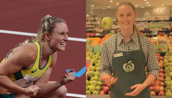 苿莉戴在超市打工一圓奧運夢。摘自茉莉戴IG