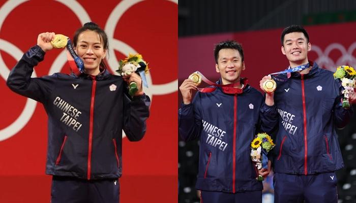 中華隊2金3人都各可獲2000萬國光獎金。合成照片