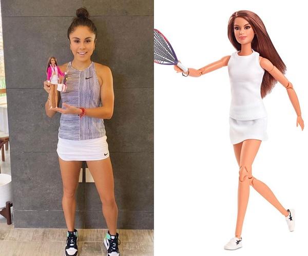 壁球天后朗戈里亞的芭比娃娃。摘自朗戈里亞IG