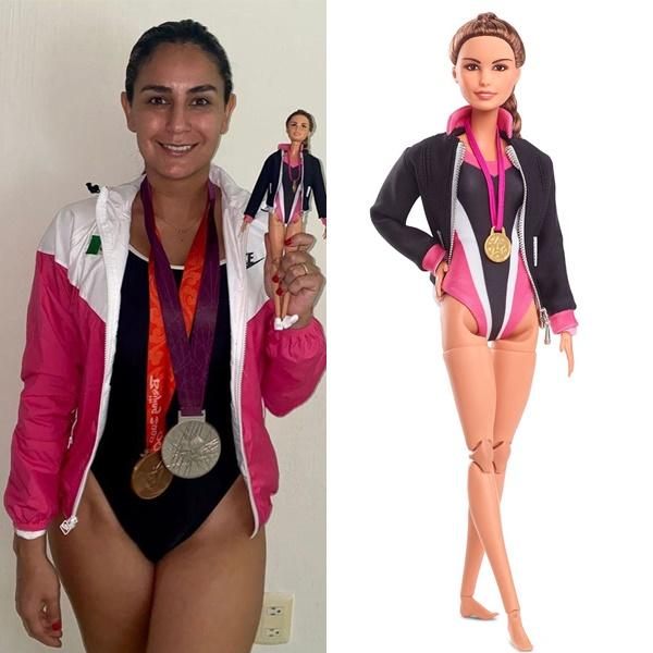 墨西哥的跳水選手艾絲皮諾薩的芭比娃娃。摘自艾絲皮諾薩IG