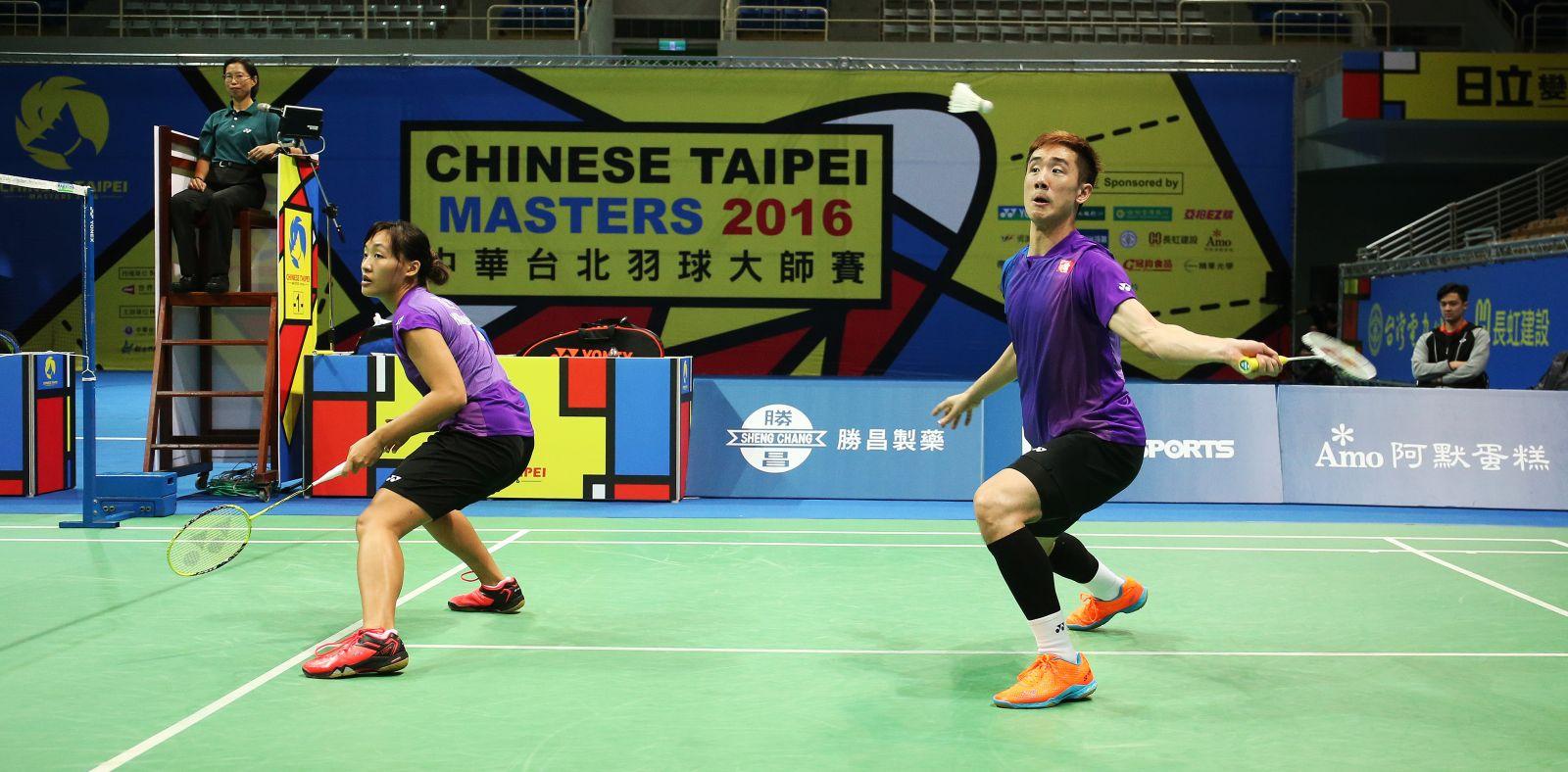 中國香港鄧俊文(右)謝影雪拿下混雙冠軍/李天助攝