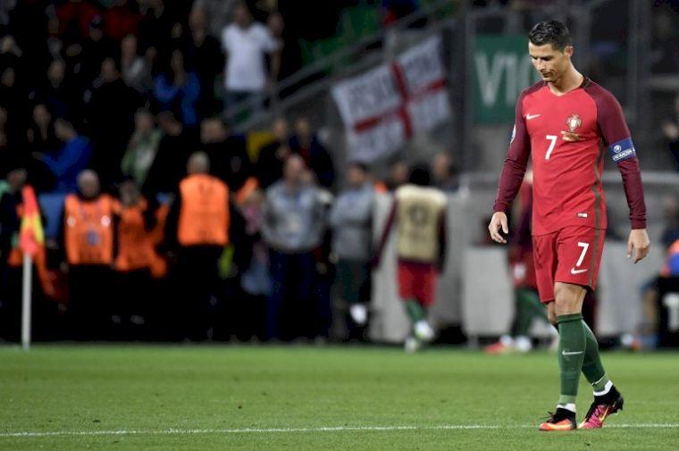 C羅領軍葡萄牙出師不利。(AFP)