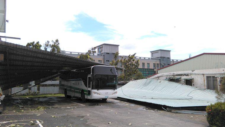 颱風重創國訓中心。圖/翻攝自國訓中心網站