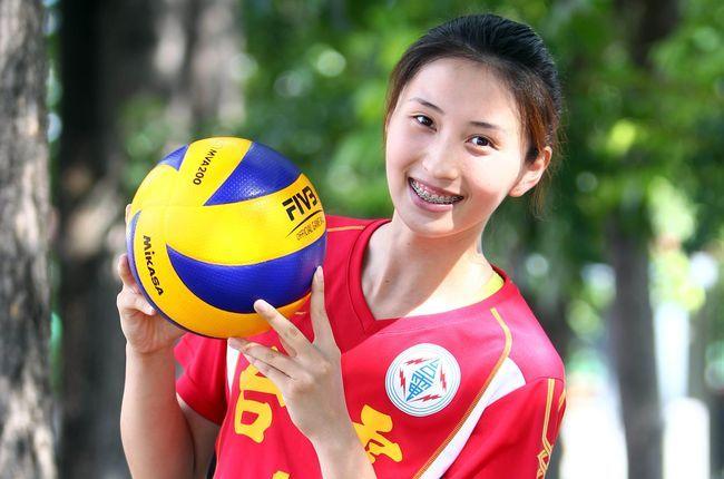 台電女排「甜姐兒」賴佳吟。中華民國排球協會/提供。