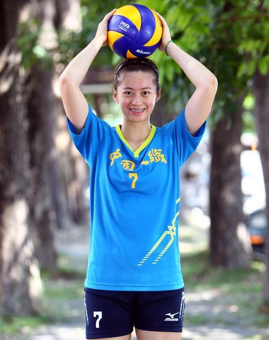 中國人纖隊「大眼妹」陳怡如。中華民國排球協會/提供。