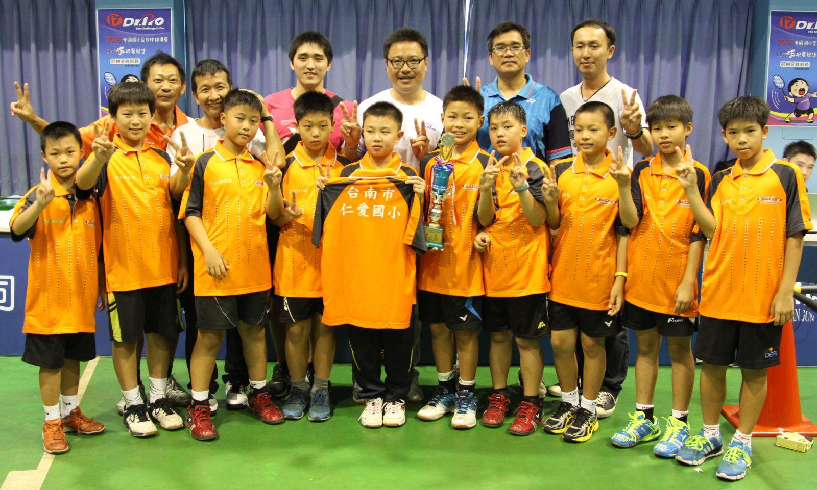 贏得小5男團冠軍的南市仁愛(黃秀仁/攝)