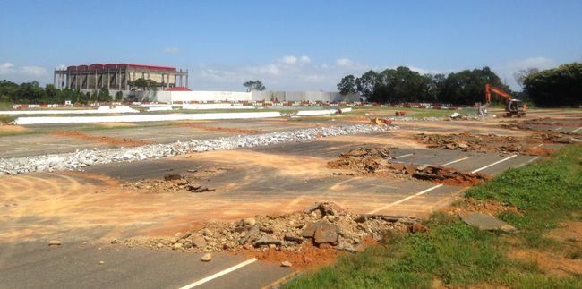 龍潭賽車場正在拆除,北部車友將失去練車與比賽的場地。(中華賽車協會提供)