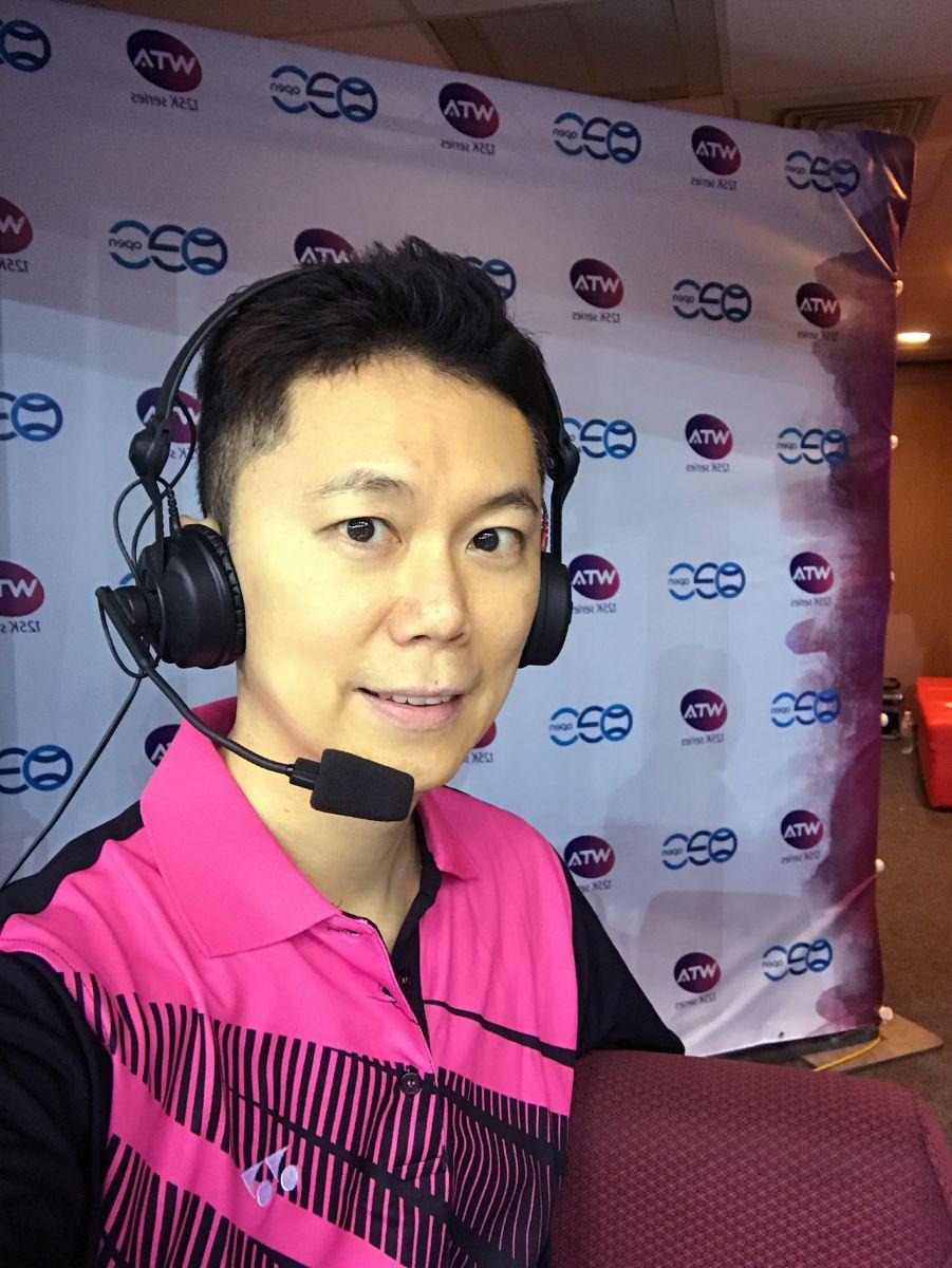 王人瑞主播今年台北海碩盃的賽事。